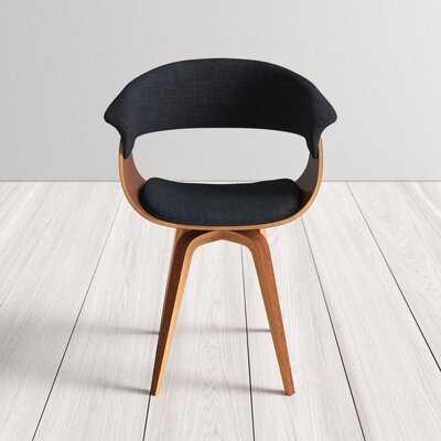 Deane Upholstered Dining Chair, charcoal - AllModern
