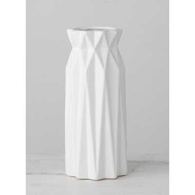 Stlaurent White Ceramic Table Vase - Wayfair