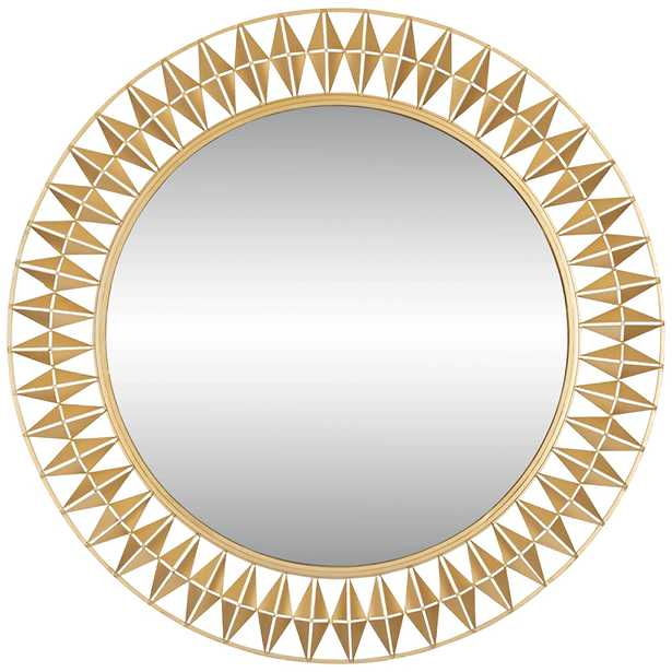 """Varaluz Casa Forever French Gold 33"""" Round Wall Mirror - Style # 86D47 - Lamps Plus"""