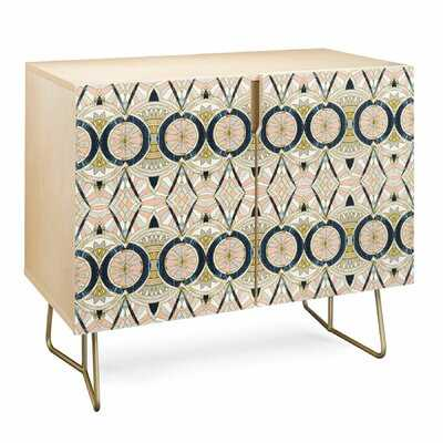 Marta Barragan Camarasa Marble Mosaic Pattern Birch Accent Cabinet - Wayfair
