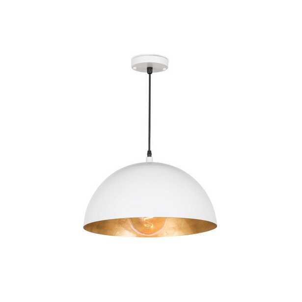 """Regina Andrew Sigmund 1-Light Single Dome Pendant Color: White, Size: 8"""" H x 15"""" W x 15"""" D - Perigold"""