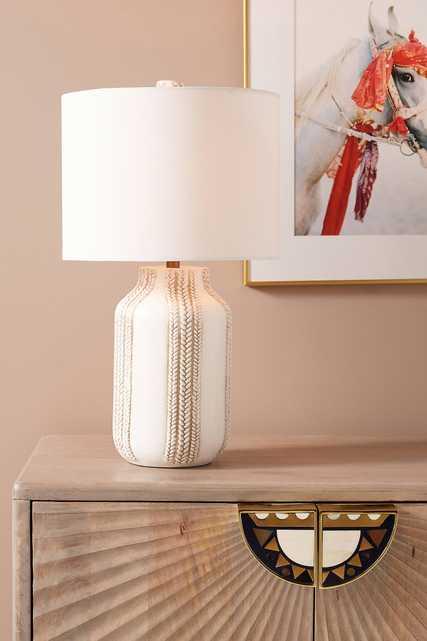 Ceramic Braid Table Lamp - Anthropologie