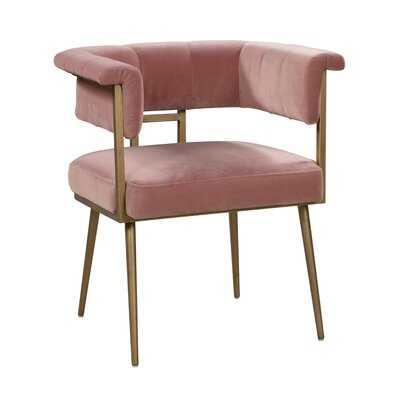 Kristie Velvet Upholstered Arm chair - Wayfair