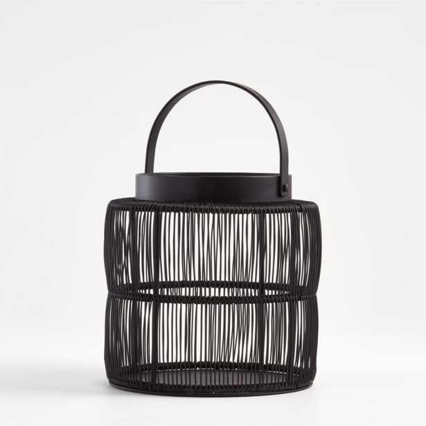 Ora Medium Black Wire Lantern - Crate and Barrel
