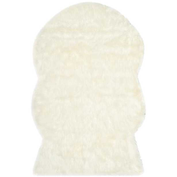 Safavieh Faux Sheep Skin Ivory 4 ft. x 6 ft. Area Rug - Home Depot