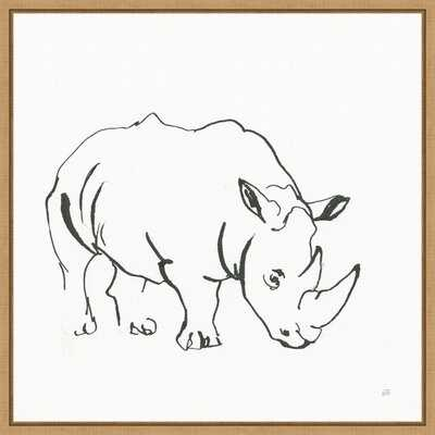African Animals V Rhinoceros By Chris Paschke Framed Canvas Art - Wayfair