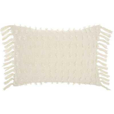 Coraline Textured Cotton Lumbar Pillow - AllModern