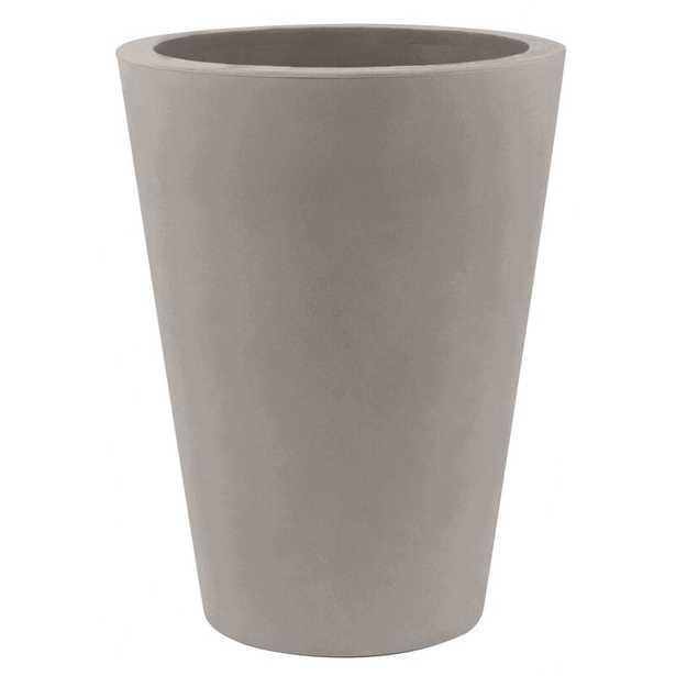 """Vondom Cono Resin Pot Planter Color: Taupe, Size: 13.75"""" H x 15.75"""" W x 15.75"""" D - Perigold"""