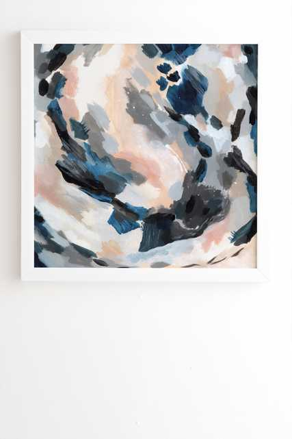 """Laura Fedorowicz Parchment Abstract Two White Framed Wall Art - 12"""" x 12"""" - Wander Print Co."""
