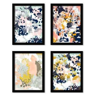 'Charlotte Winter' 4 Piece Picture Frame Graphic Art Set - Wayfair