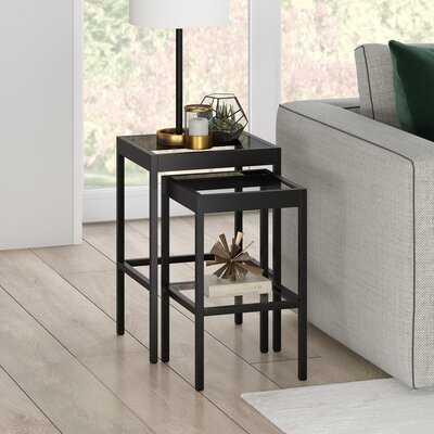 SeralGlass Top Nesting Table Set - Wayfair