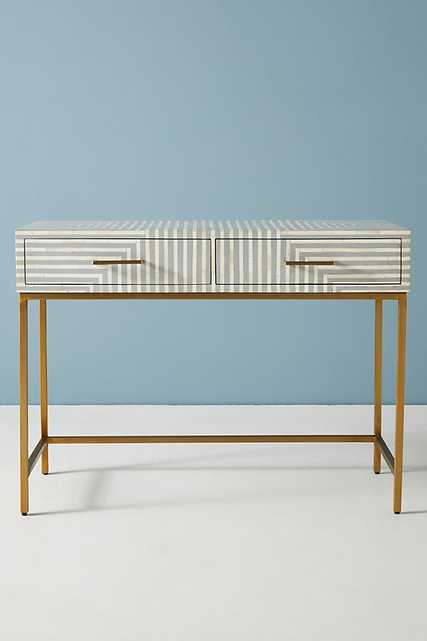 Savi Striped Inlay Desk By Anthropologie in Grey - Anthropologie