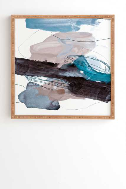 """Abstract Painting Xiii by Iris Lehnhardt - Framed Wall Art Bamboo 30"""" x 30"""" - Wander Print Co."""