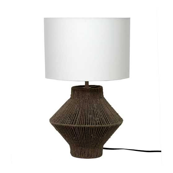 Handwoven Jute Table Lamp, Natural - West Elm