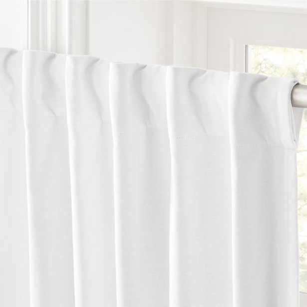 "White Basketweave Blackout Curtain Panel 48""x108"" - CB2"