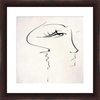 'Sketch of Beauty' Framed Painting Print - Wayfair