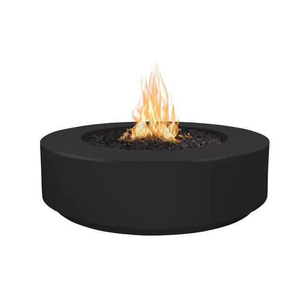 The Outdoor Plus Florence Concrete Fire Pit Finish: Black, Fuel Type: Natural Gas - Perigold