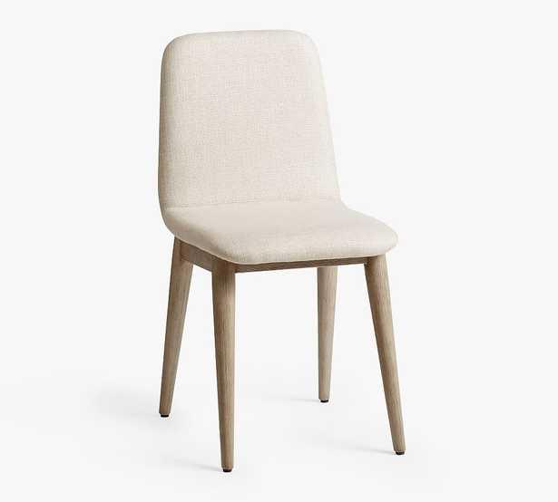 Zoe Dining Chair, Basketweave Slub Oatmeal - Pottery Barn