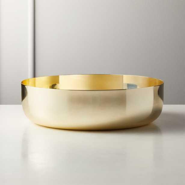 Porter Gold Low Serving Bowl - CB2