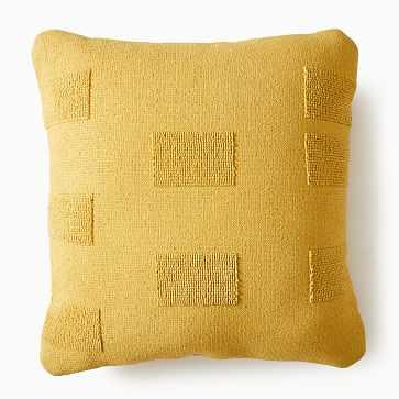 "Outdoor Tufted Pillow, 24""x24"", Dark Horseradish - West Elm"