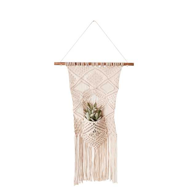 Macramé Wall Hanging with Pocket - Nomad Home
