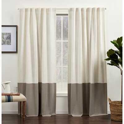 Breece Venice Linen Semi-Sheer Rod Pocket Curtain Panels - Birch Lane