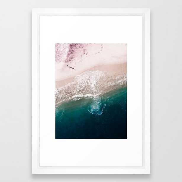Ocean Walk V Framed Art Print by Ingrid Beddoes Photography - Vector White - SMALL-15x21 - Society6