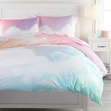 Rainbow Sky Organic Duvet Cover, Full/Queen, Multi - Pottery Barn Teen