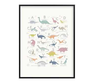 Minted(R) Alphabet Dinos Wall Art by Teju Reval; 30x40, Black - Pottery Barn Kids