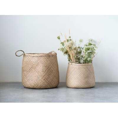 2 Piece Seagrass Basket Set - Wayfair
