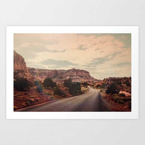 Desert Solitude Art Print by Leah Flores - MEDIUM - Society6