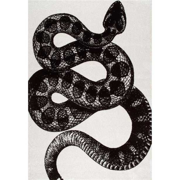 Thomas Paul Serpent Black and White 8 ft. x 10 ft. Area Rug, Black & White - Home Depot