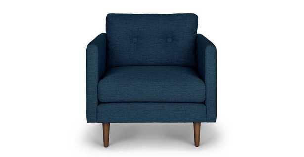 Anton Twilight Blue Lounge Chair - Article
