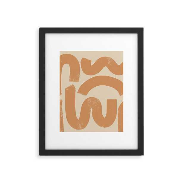 "Squig by almostmakesperfect - Modern Framed Art Print Black 24"" x 36"" - Wander Print Co."