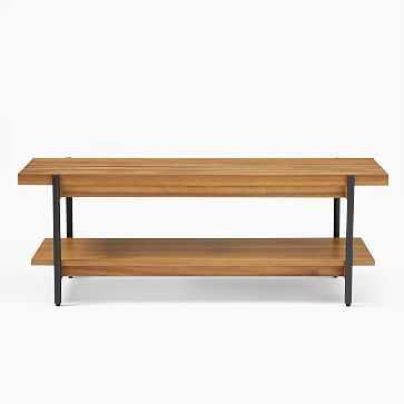 Slatted Wood Bench - West Elm