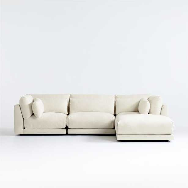 Plush 4-Piece Sectional (Family Friendly fabric) - Crate and Barrel