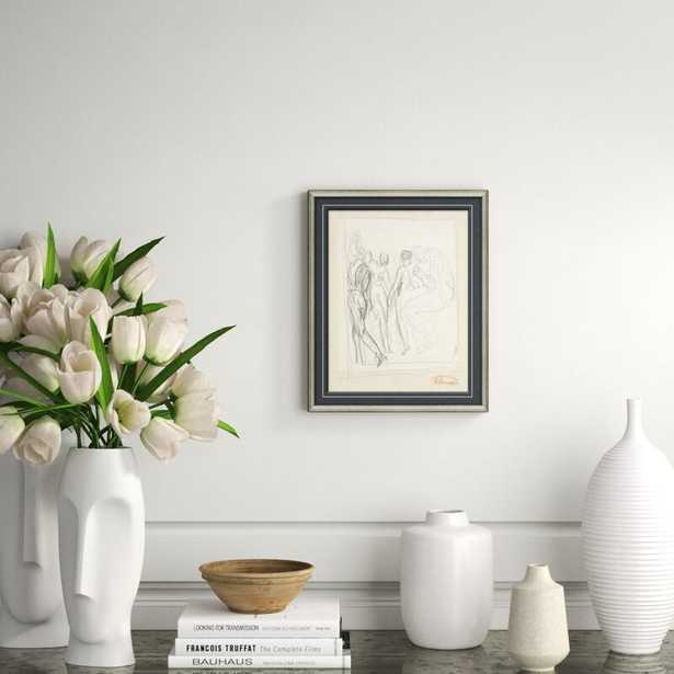 Soicher Marin 'Figure Sketch' Framed Drawing Print - Perigold