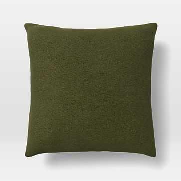 "20""x 20"" Pillow, N/A, Distressed Velvet, Tarragon, N/A - West Elm"