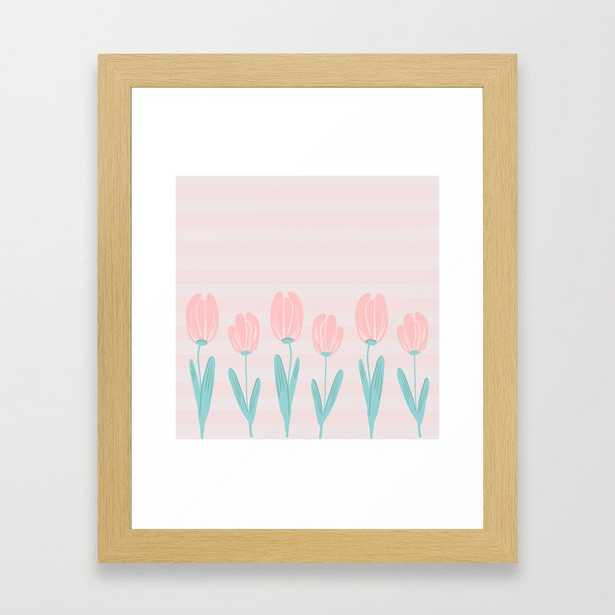 Tulips And Stripes Framed Art Print by Sylvia Cook Photography - Conservation Natural - X-Small-10x12 - Society6