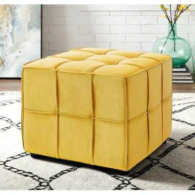 """Margene 22"""" Wide Velvet Tufted Square Cube Ottoman - Wayfair"""
