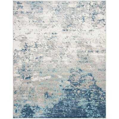 N'Keal Light Gray/Blue Rug - Wayfair