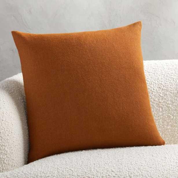 "20"" Alpaca Copper Pillow with Down-Alternative Insert - CB2"