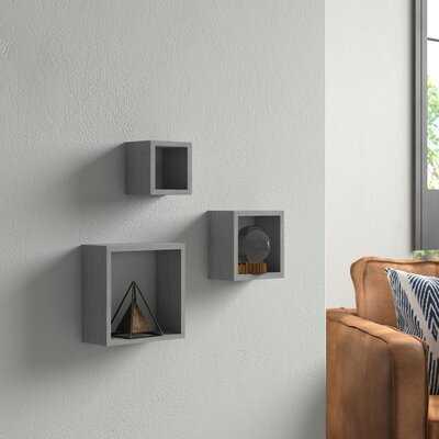 Akeesha Cube 3 Piece Wall Shelf Set - Wayfair