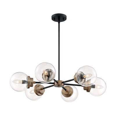 Ibrar 6 - Light Sputnik Sphere Chandelier - Wayfair