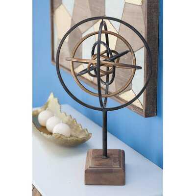 Apache Metal/Wood Sculpture - Wayfair