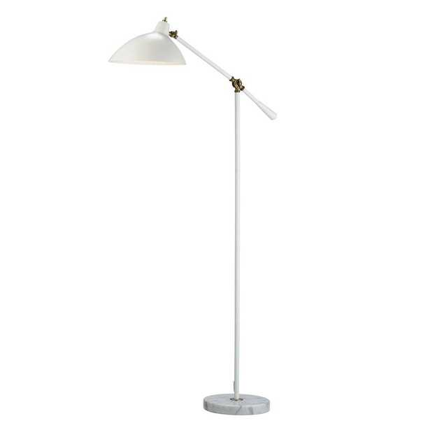 Adesso Peggy 59-1/2 in. White Floor Lamp with Marble Base - Home Depot