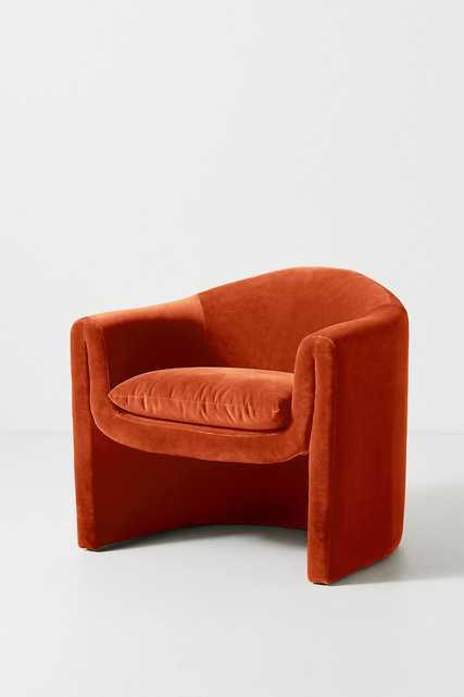 Velvet Sculptural Chair - Anthropologie