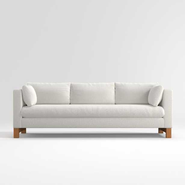Pacific Bench Track Arm Grande Sofa with Wood Legs - Crate and Barrel