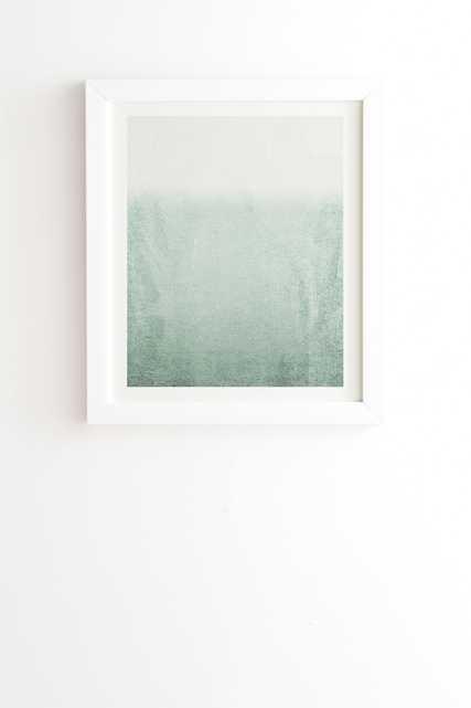 "Fading Green Eucalyptus by Monika Strigel - Framed Wall Art Basic White 8"" x 9.5"" - Wander Print Co."