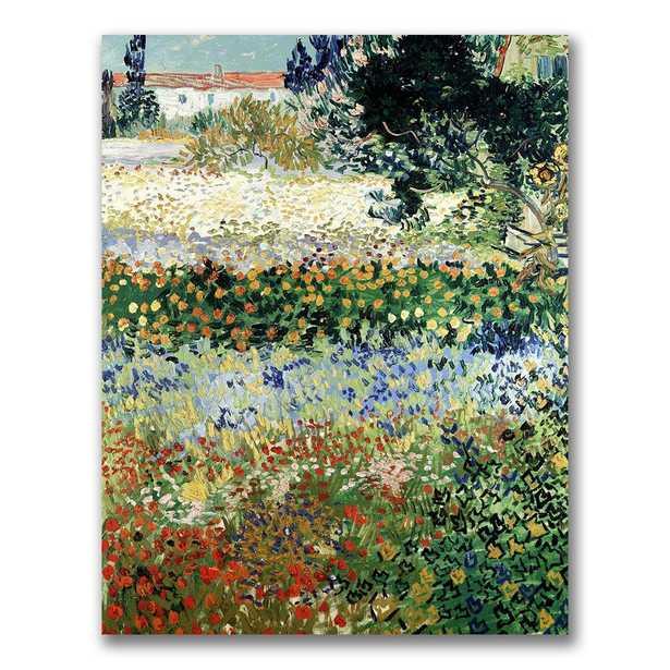 24 in. x 18 in. Garden in Bloom Canvas Wall Art - Home Depot